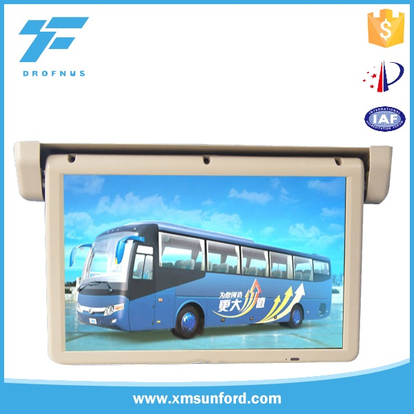 Auto flip 12/24V 22 inch remote control bus roof mount tv