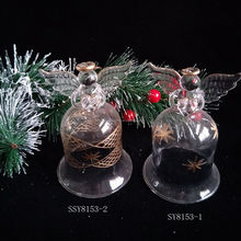 handmade bell shape glass angel christmas ornaments for gifts