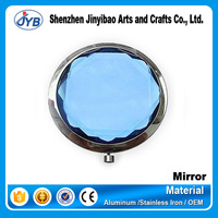 fancy blue face crystal make up small mirror tiles for wholesale