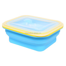 Portable silicone rubber material safe leakproof child's microwave oven safe bread lunch box