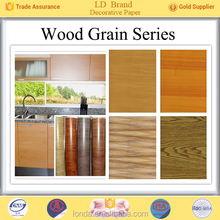 Top Manufacturer Wood grain new furniture overlay decorative paper wholesale