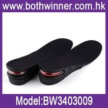 Casual shoe inserts ,h0t157 3-layer air cushion shoe insole , adjustable pu foot pad
