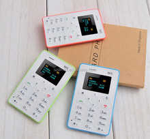 Thin 4.5mm M5 Card Phone Mini Pocket Students Moblie Phone w/ Low Radiation