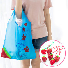 Wholesale Alibaba reusable foldable shopping bag cute strawberry waterproof Eco bag
