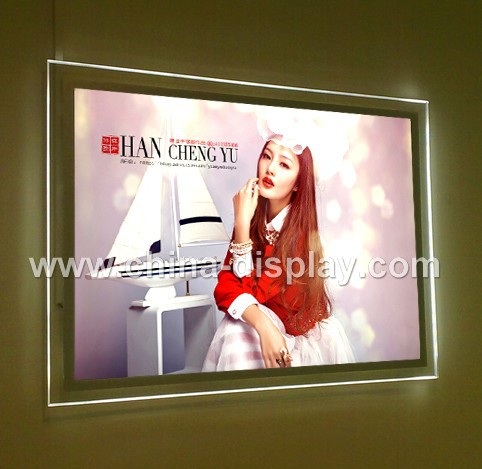 Single Sided Crystal Wall Lighting Led Photo Display Profiles Picture Frame Factory