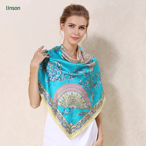 Oem digital customized printing square100% silk scarf own design