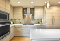 Prefab wooden kitchen cabinet simple designs