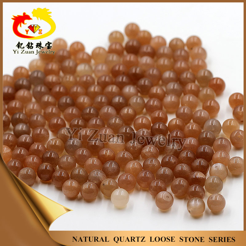 Hot sale natural peach moonstone ball beads