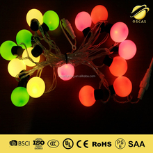 led ball christmas light string IP44 outdoor waterproof