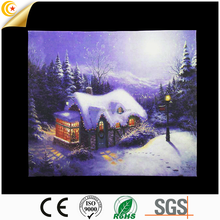 2017 popular Christmas ink painting led wall plaques for ornament high quality indoor decorative wooden wall plaques