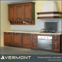 Guangzhou Finished Oak Solid Wood Kitchen Cabinets