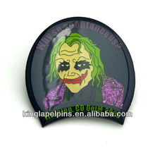 SM-ML031 Custom witch face glitter lapel pins