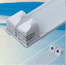 white paint lamp fixture 40W super-thin double tubes electronic fluorescent fixture with flat cover and electrical outlet