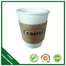 Customize Shape And Size Ice Cream Paper Cone Wrapped Coffee Cup Sleeve