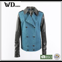 Latest Fashion Dress Design Women's Leather-look Biker Casual Jacket
