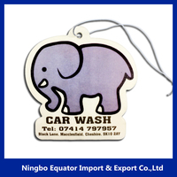 Cheap promotion animal elephant shaped auto air freshener paper air freshener