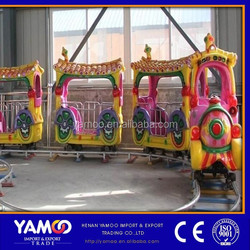 2014 hot sale amusement equip rides train rides electric Tile-roofed house train YM-T-004