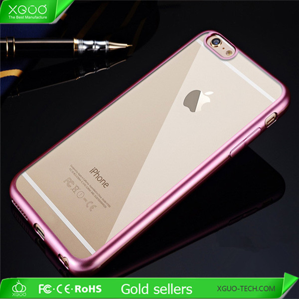 Soft TPU mobile phone case for iphone 6 case rose gold