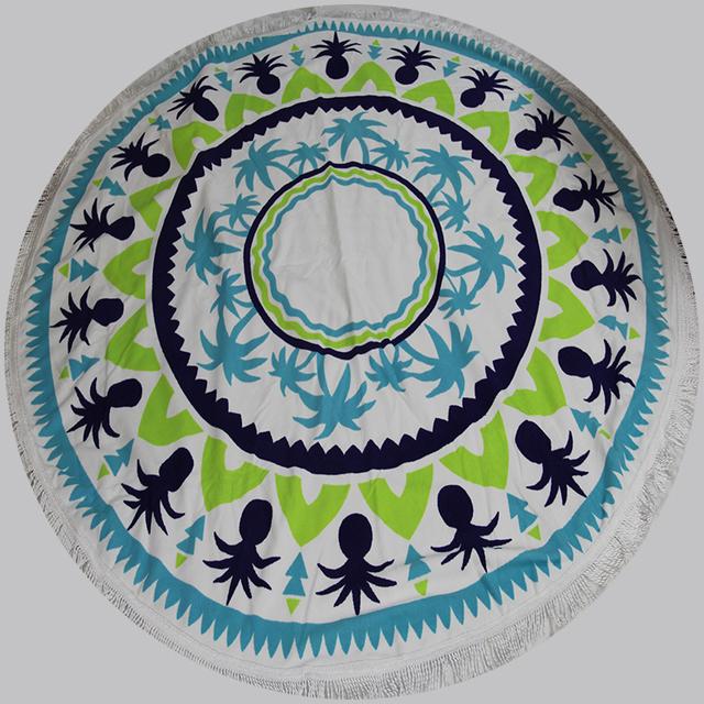 Indian Made Mandala Round Tapestry Beach Throw Yoga Mat Table Cover blanket beach towel