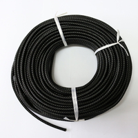 3mm 4mm 5mm Hot sale genuine round braided leather cord for jewelry, colored leather cord