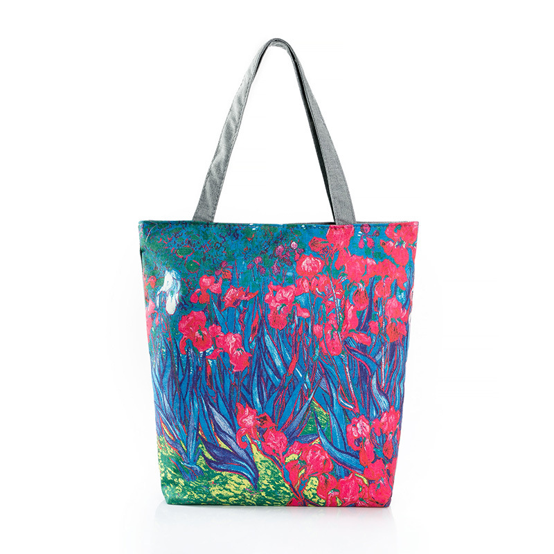 The digital prints of the oil painting cluster digital printed single menssenger bag with a single shoulder shopping bag