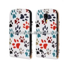New Flip Phone Leather Case for Samsung Galaxy s4 mini i9190 Case