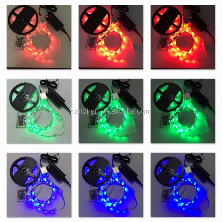 RGB remote control 5050 10mm waterproof LED flexible strip lights christmas wedding party landscape lamps