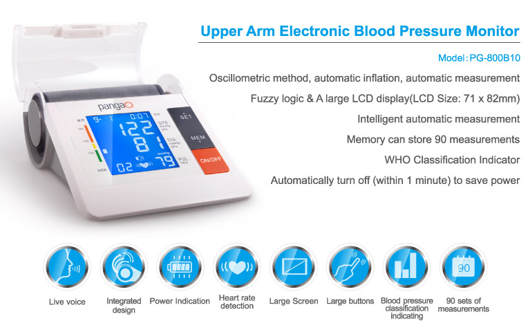 China supplier home health care arm blood pressure monitor machine