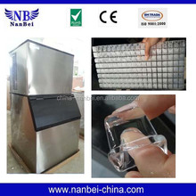 15-1000kg ice cube maker machine with 22*22*22 cube ice