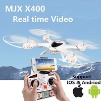 Newest MJX X400 6-axis Gyro 4CH RC Quadcopter Drone RC Helicopter&C4005 WiFi FPV Camera