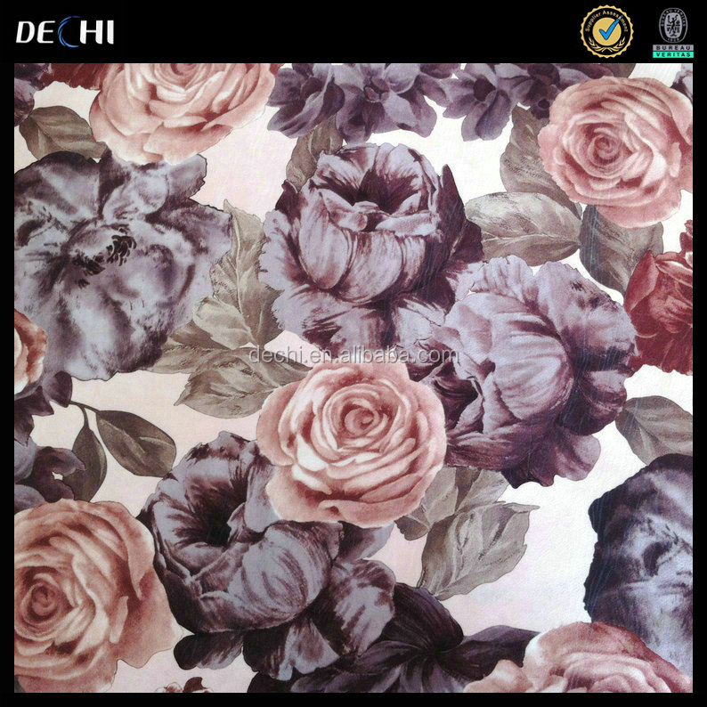 Micro Velvet Floral upholstery fabric for sofa