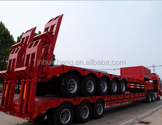 for big machine semi truck trailer hot wheels truck and trailer 3 axle extentable low bed trailer