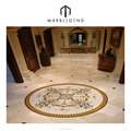 Luxury house interior designs waterjet marble foyer medallion floor