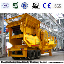 Mobile jaw crusher & screen & feeder for sale