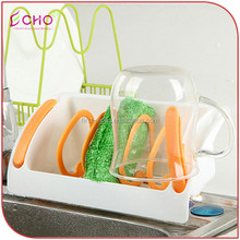 Kitchen Draining Rack for Sponge Towel Cup Holder