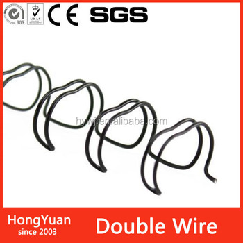 Other Metals & Metal Products twin ring double loop wire binding book,double yo binding wire loop free precut double loop wire