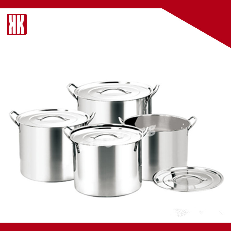 NEW Mirror Polished Large Stainless Steel Stock Pots