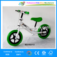 Children training balance bike with bell