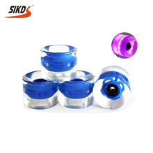 Wholesale skateboard wheels LED wheels longboard wheels skateboard transparent blue color