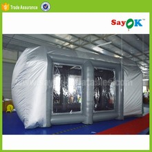 2017 Cheap price automotive mini outdoor mobile used portable car inflatable spray paint booth tent for sale