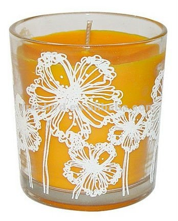 Flower Printed Scented Soy Wax Candle