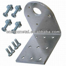 OEM bending 6mm galvanized steel heavy duty angle bracket