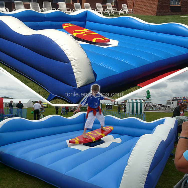 Active Hawaiian Inflatable Surfing Simulator Game/ mechanical surfboard/ Inflatable surf machine