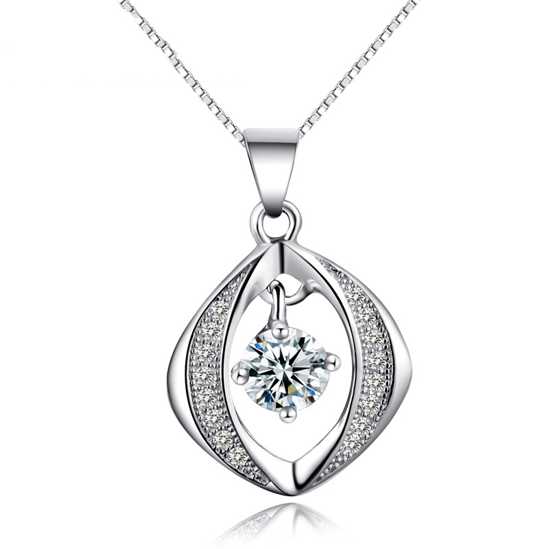 Tryme Jewelry Tamira jewelry inlaid 925 Sterling Silver Pendant pendant zircon crystal micro fashion Korean jewelry wholesale re