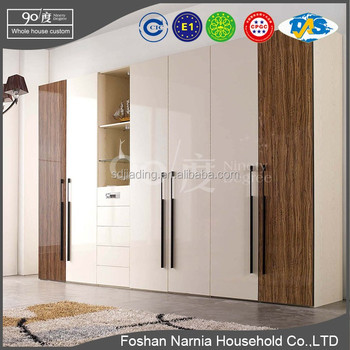 Ninety Degree Wooden almirah designs in bedroom fabric wardrob foshan furniture Narnia