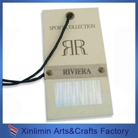 Custom cheap custom clothing garment hang tags