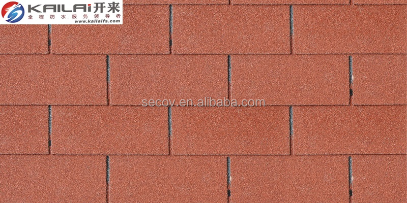 KLAI-201 colorful standard 3 tab roof asphalt tiles,asphalt shingles