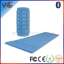 High Quality Silicone Flexible Translucen Folding Bluetooth Keyboard VMK-18