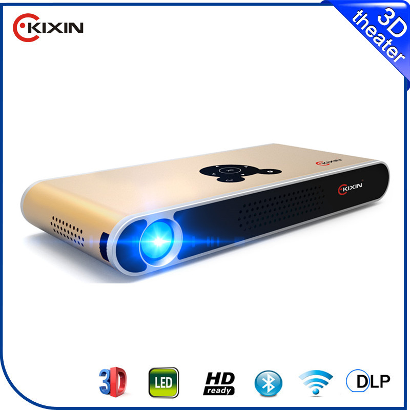 Unique DLP display slim portable 3d mini LED projector on China market