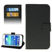 Litchi Texture Flip Wallet Leather Cover Case for Samsung Galaxy Core Plus